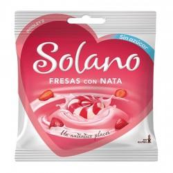 Solano Caramelo Sin Azúcar sabor Fresa bolsa 30 unidades
