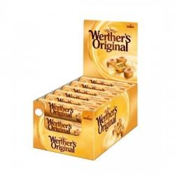 Werther's Original Caramelo Toffee duro sabor Tradicional estuche 24 sticks