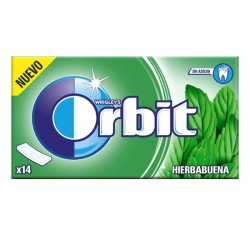 Orbit Tab Hierbabuena Chicle Sin Azúcar estuche 12 unidades