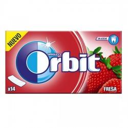 Orbit Tab Fresa Chicle Sin Azúcar estuche 12 unidades