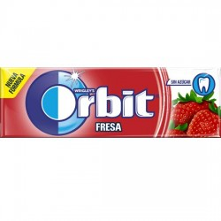 Orbit Chicle Sin Azúcar sabor Fresa estuche 30 unidades