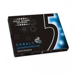 "Five 5® Chicle Sin Azúcar sabor Menta Refrescante ""Cobalt"" estuche 10 unidades"