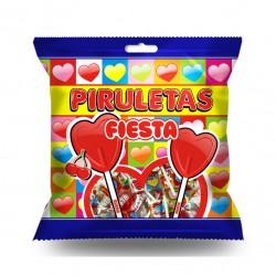 Piruletas Corazón sabor Cereza Bolsita 7 unidades FIESTA