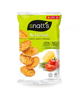 Snatt's NatuChips Tomate, Queso y Orégano 65grs