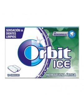 """Orbit Chicle Sin Azúcar sabor Hierbabuena Ártica """"Ice"""" est. 30 unidades"""