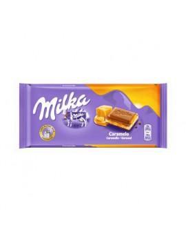 Tableta Chocolate Milka con Caramelo 100grs