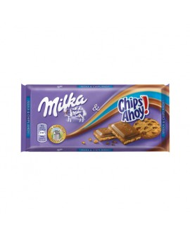 Tableta Chocolate Milka Chips Ahoy 100grs