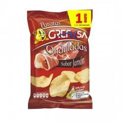 Patatas Onduladas Jamón 150grs