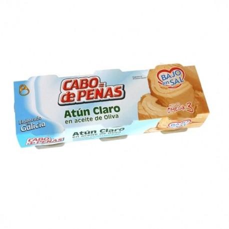 Atún Claro en Aceite de Oliva Bajo en Sal Pack 3