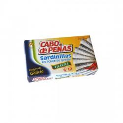 Sardinillas en Aceite de Girasol Picantes Lata 85grs