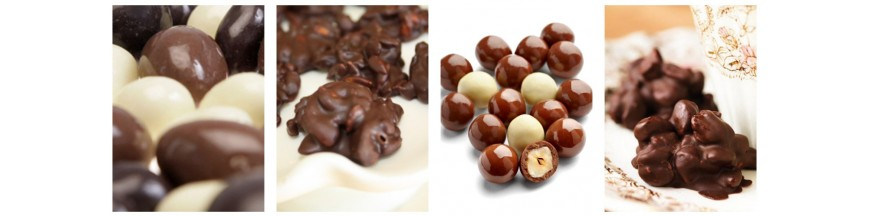 nuts with chocolate