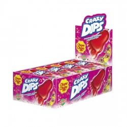 Chupa Chups Crazy Dips sabor Fresa caja 24 unidades