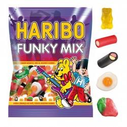 Funky Mix surtido gominolas y regaliz Bolsita 100grs HARIBO PACK 10 UNIDADES