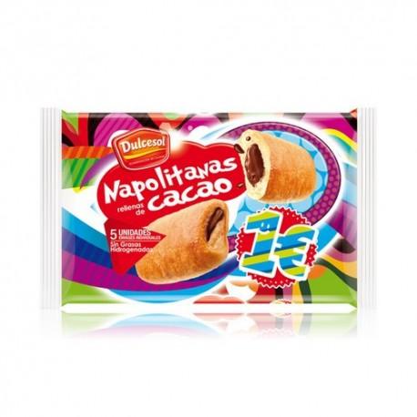 Napolitanas rellenas de Cacao 5 unidades
