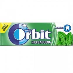 Orbit Chicle Sin Azúcar sabor Hierbabuena estuche 30 unidades