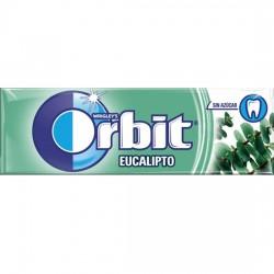 Orbit Chicle Sin Azúcar sabor Eucalipto estuche 30 unidades