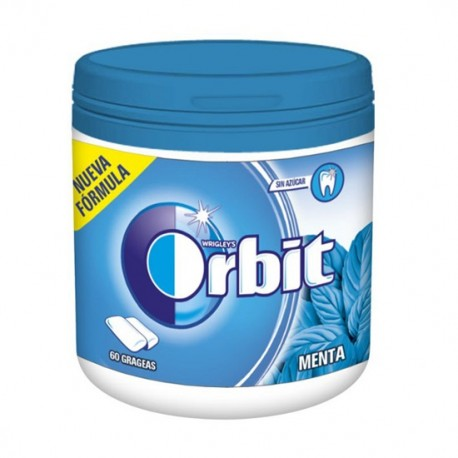 Orbit Chicle Sin Azúcar sabor Menta caja 6 Botes
