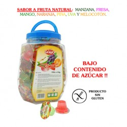 Tarrinas de Caramelo Jelly sabor Frutas Surtidas Bote 150 unidades GERIO