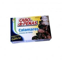 Calamares Trozos en Tinta Lata 120grs CABO DE PEÑAS