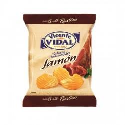 Patatas Onduladas Jamón 30grs