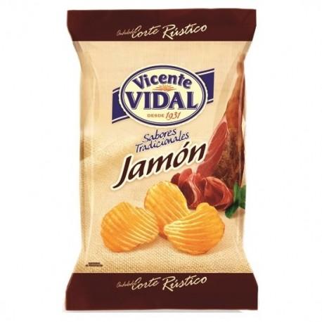 Patatas Onduladas Jamón 135grs