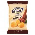 Patatas Onduladas sabor Jamón 135grs VICENTE VIDAL