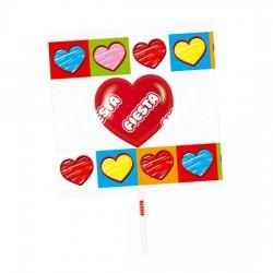 Piruletas Corazón sabor Cereza caja 80 unidades FIESTA